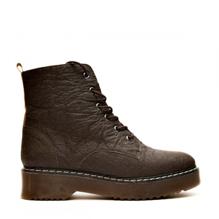 trina brown ankle boots lace up