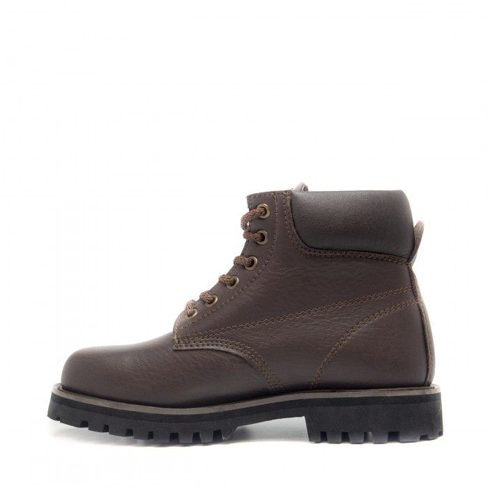 Atka brown ankle boots laces men women vegan
