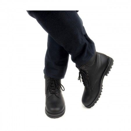 Atka black ankle boots laces men women vegan