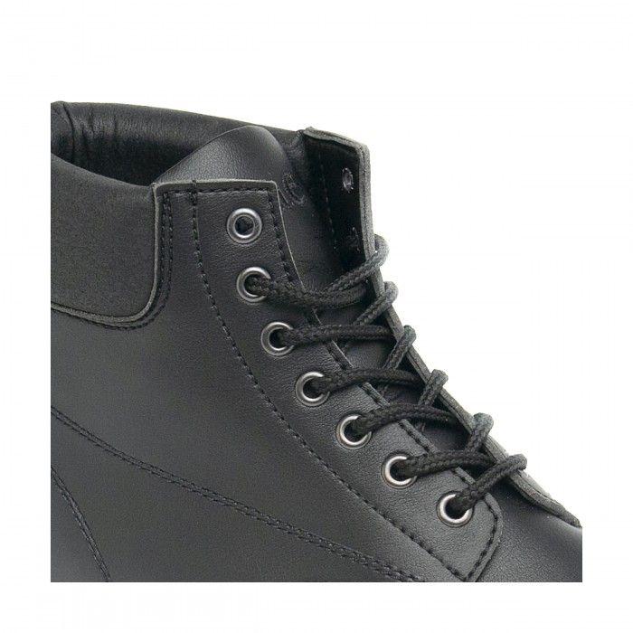 Atka black ankle boots laces men women vegan
