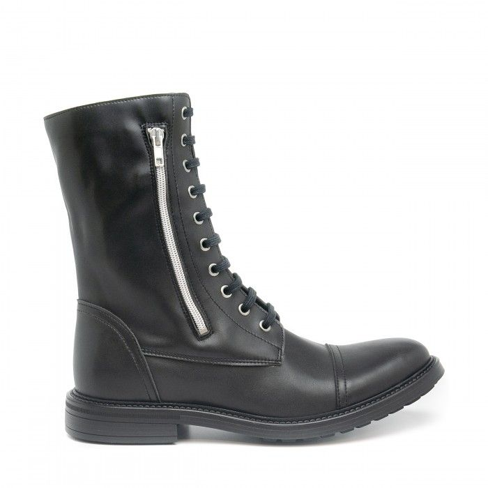 caleb black medium barrel boots zipper men vegan