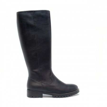 lou black knee high boots women vegan