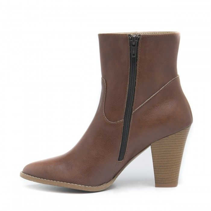 Sophia Brown Vegan Boots
