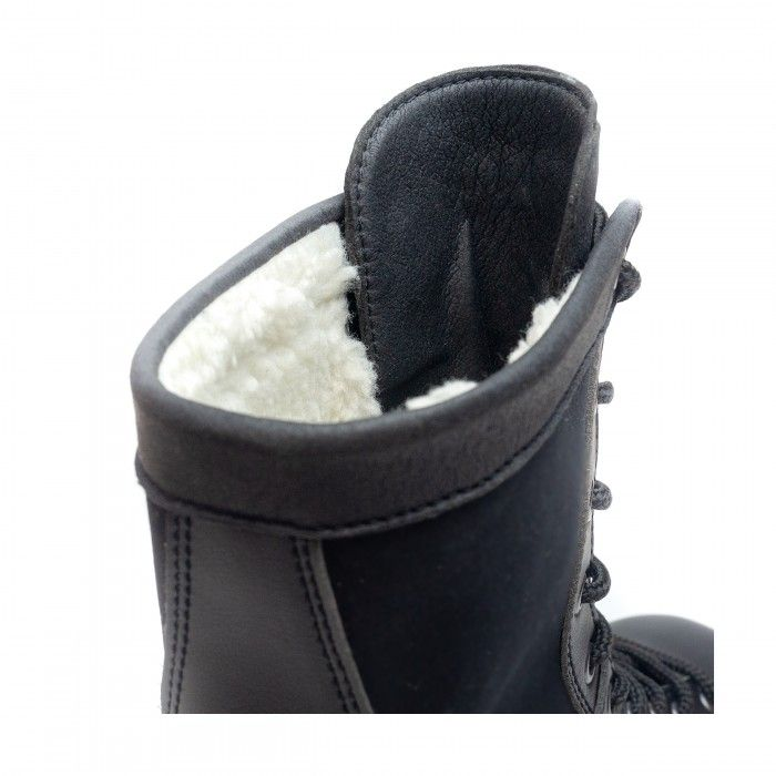 Archie black boots synthetic fur men women vegan