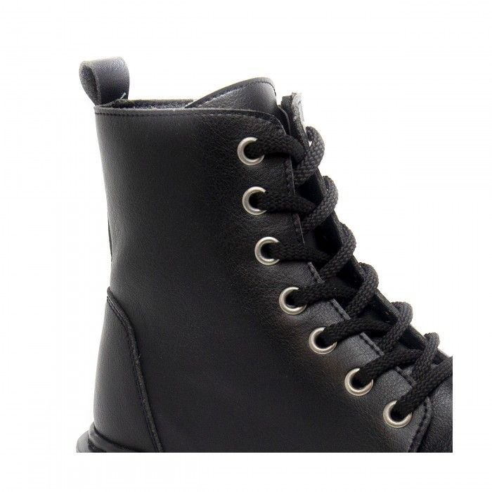 harley black lace up ankle boots  vegan