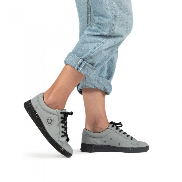 ganges grey derby sneaker made with recycled plastic from the ocean