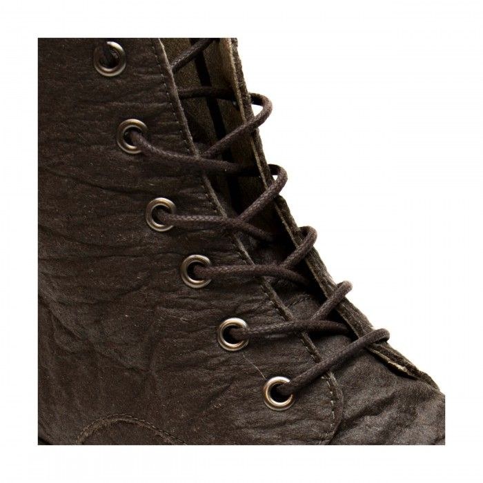 trina piñatex ankle boots lace up