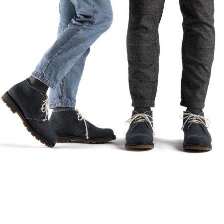 Peta Black botas negras veganas mujer y hombre