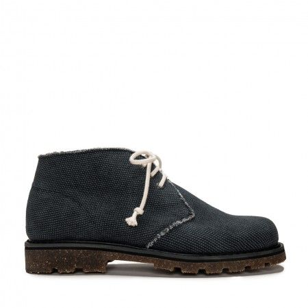 Peta Black Organic Cotton Vegan Boots