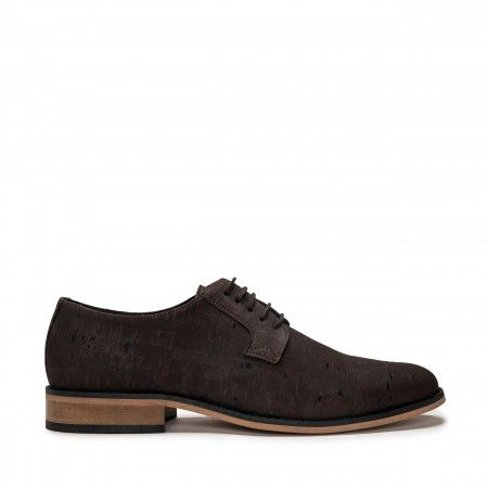Jake cork brown plain toe shoe