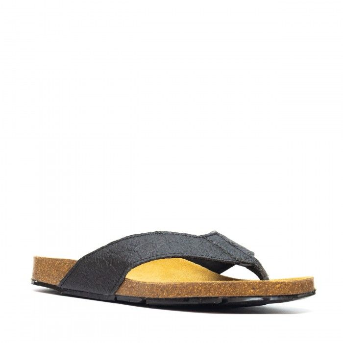 Earth black flip flops