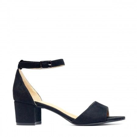 Cora black block heel