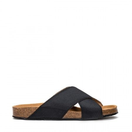 Bali Black Recycled PET Vegan Sandals
