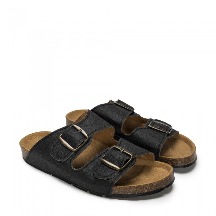 Darco Black Pinatex Vegan Sandals