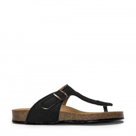 Kos Black Vegan Sandal
