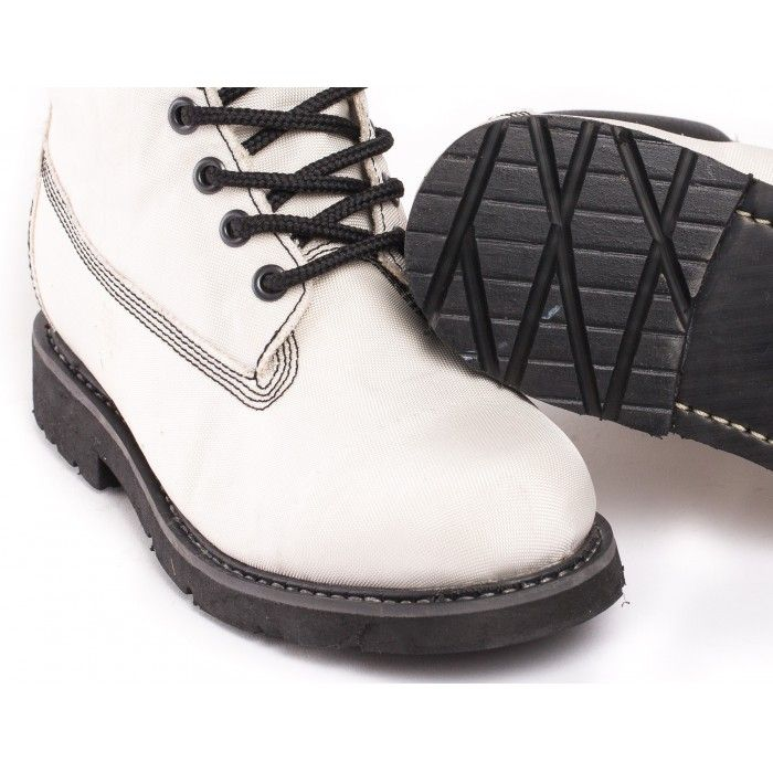 Airbag White Vegan Boots