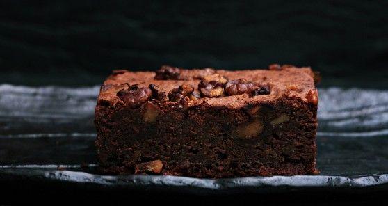 Vegan brownie for dessert