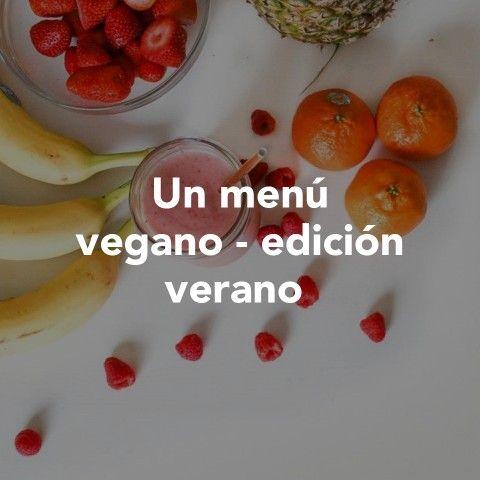 Un menú vegano - edición verano
