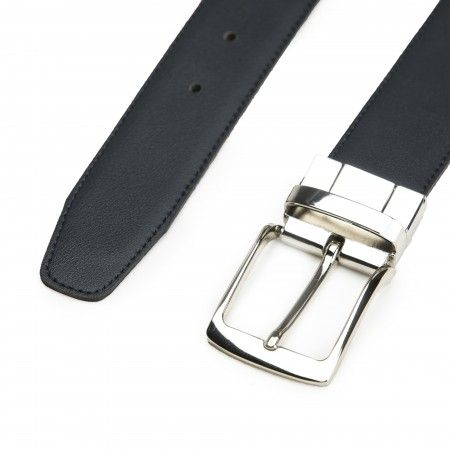 Alp Black Microfiber Vegan Belt