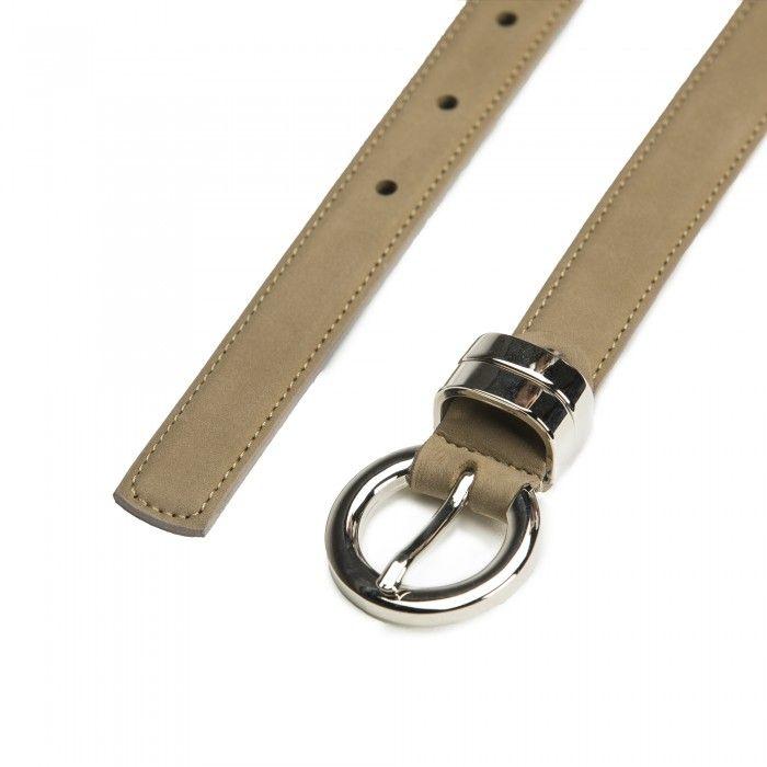 Blanes Camel Microfiber Vegan Belt