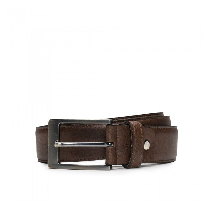 Calaf Brown Microfiber Vegan Belt