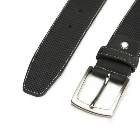 Canet Black Microfiber Vegan Belt