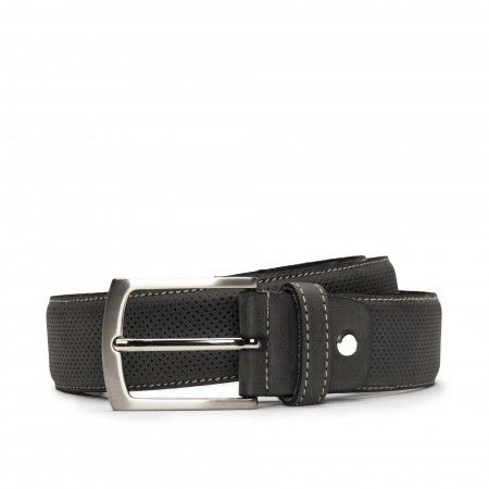 Canet Grey Microfiber Vegan Belt