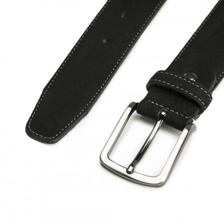Gava Black Microsuede Vegan Belt