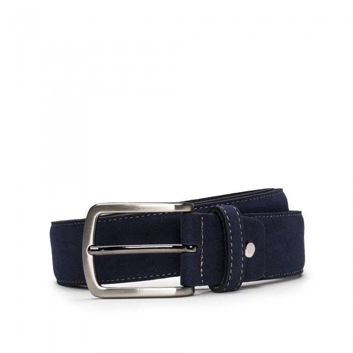 Gava Blue Microsuede Vegan Belt