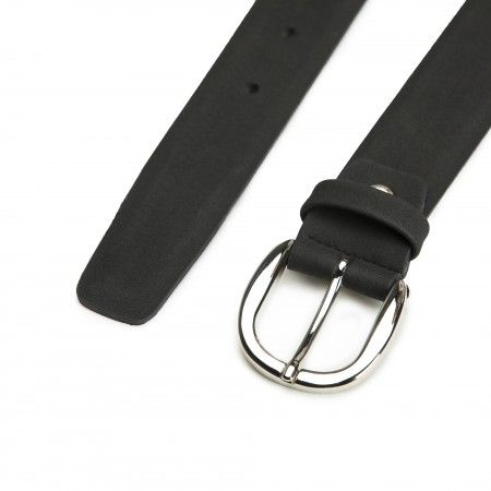 Mura Black Microfiber Vegan Belt