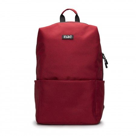 Oslo Red recycled vegan backpack