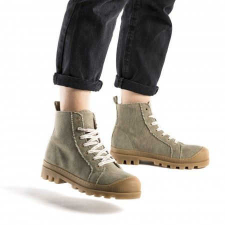 Noah Green Organic Cotton vegan sneaker boots