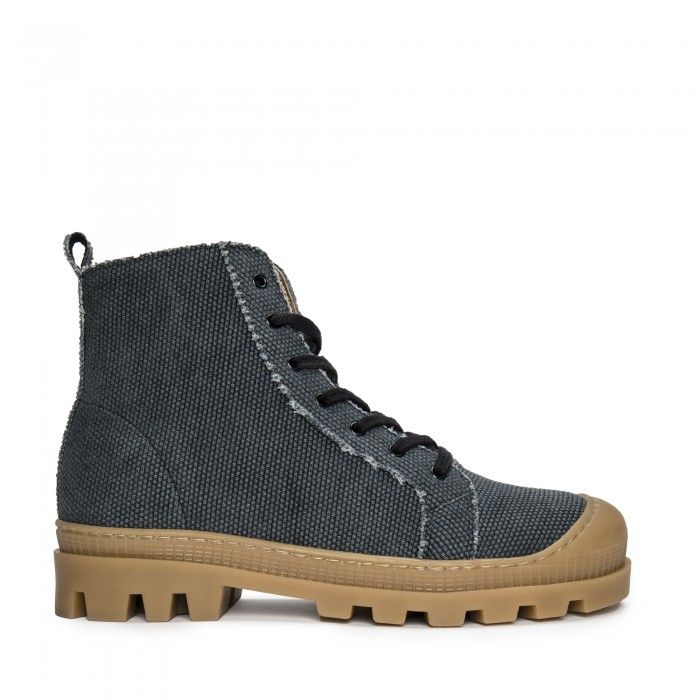 Noah Black Organic Cotton bottes chaussure de sport véganes