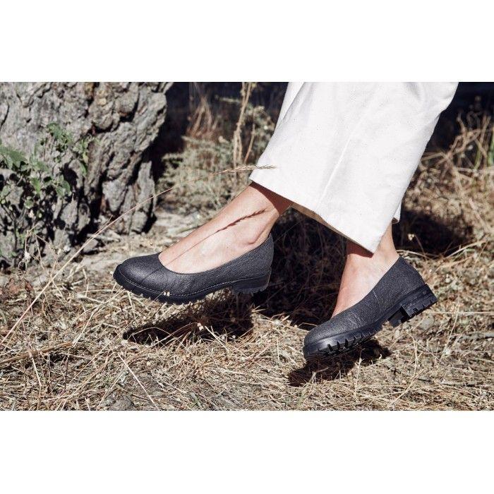 Lili Piñatex Noir Chaussures véganes