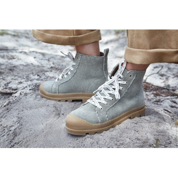 Noah Green Organic Cotton vegan sneaker boots