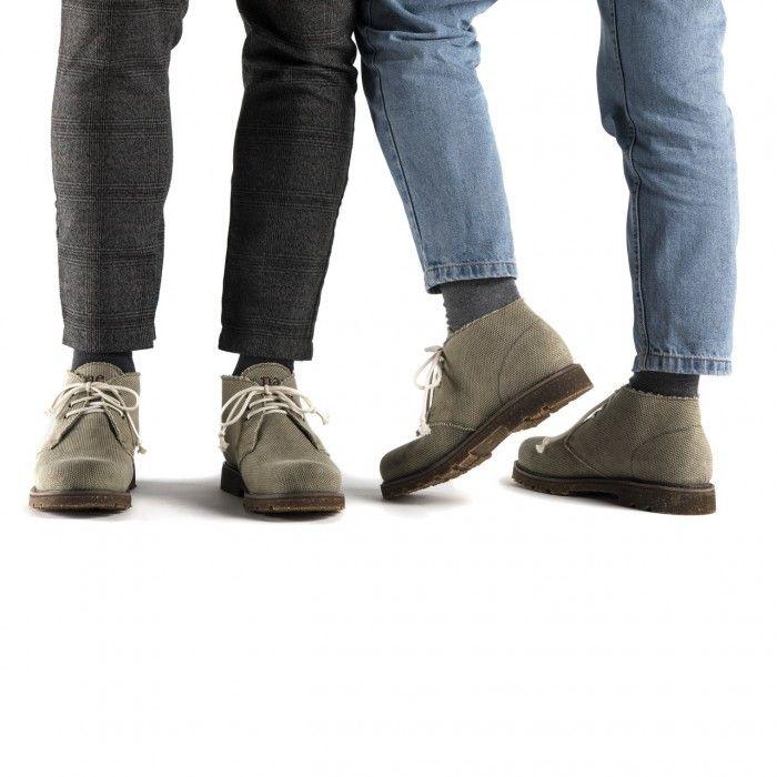 Peta Green Algodão Orgânico Vegan Boots