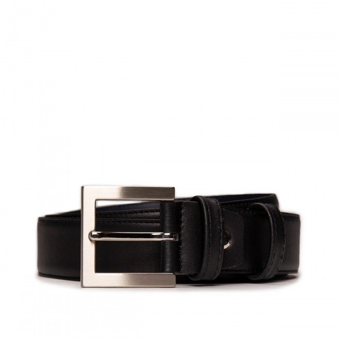 Bruc Black Microfiber Vegan Belt