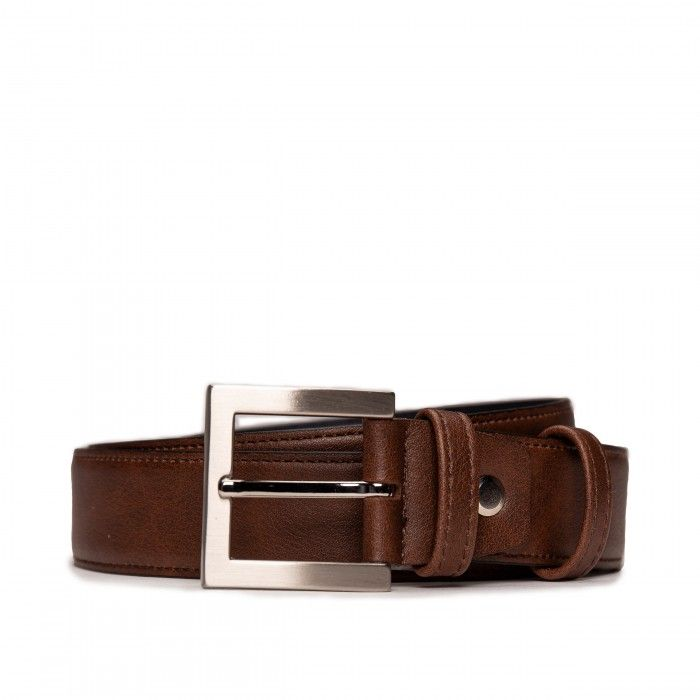 Bruc Brown Microfiber Vegan Belt