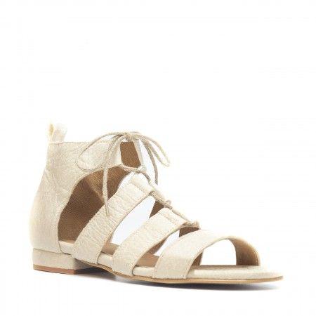 Hera White Pinatex Vegan Sandal