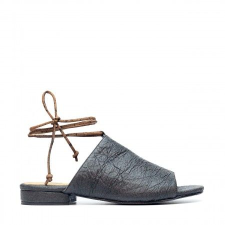 Theia Preta Pinatex Vegan Sandals