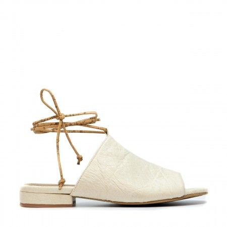 Theia White Pinatex Vegan Sandals