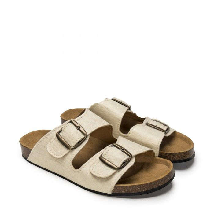 Darco White Pinatex Vegan Sandals