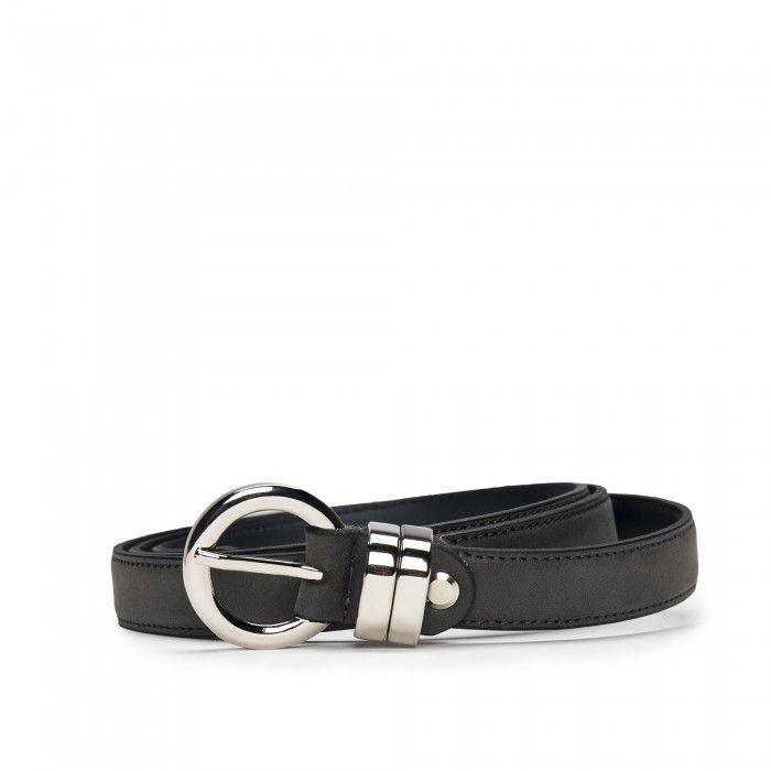 Blanes Grey Cinturón vegano de Microfibra