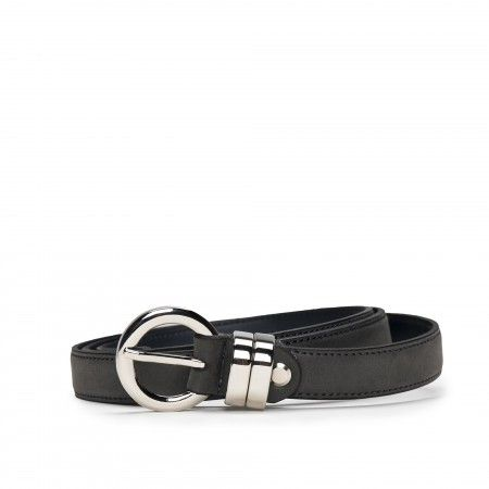 Blanes Grey Microfiber Vegan Belt