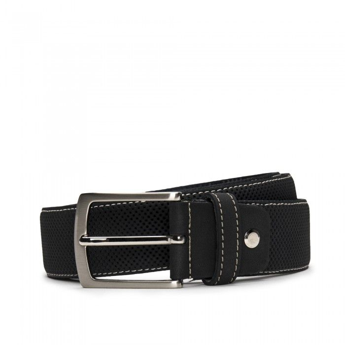 Canet Black Cinturón vegano de Microfibra