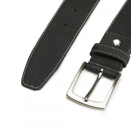 Canet Black Microfiber Vegan Belt