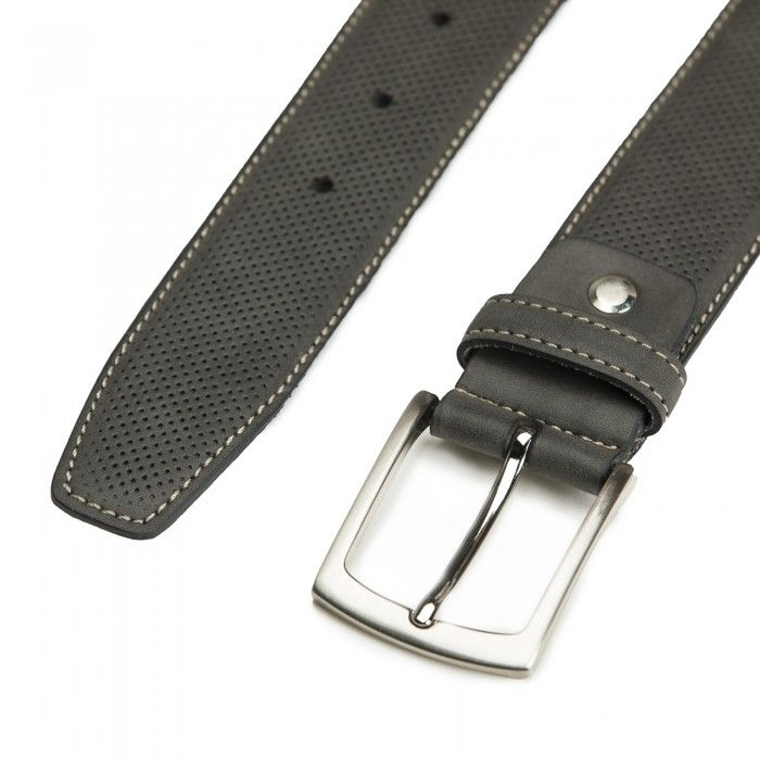Canet Grey Microfiber Vegan Belt