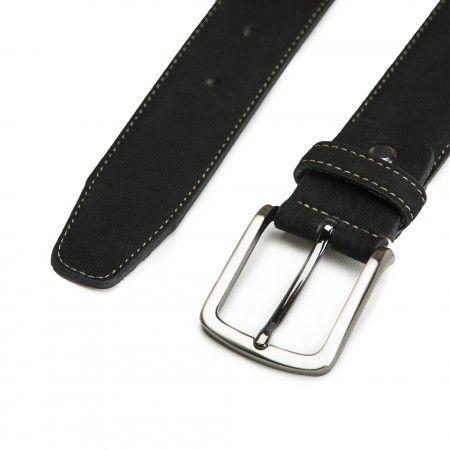 Gava Black Microsuede Vegan Belt