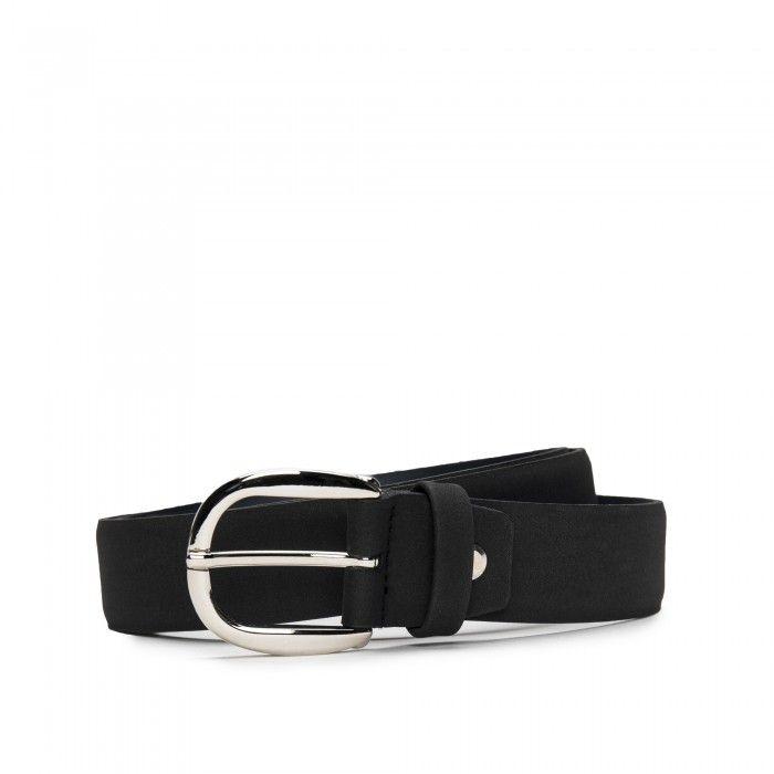 Mura Black Microfiber Vegan Belt