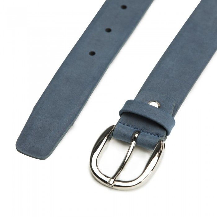 Mura Blue Microfiber Vegan Belt